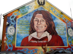 Bobby Sands mural in Belfast, Northern Ireland