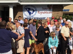 GOP crowd posing for a picture